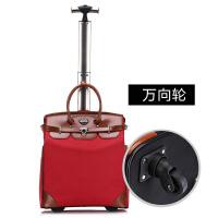 同款单杆手提拉杆包男女牛津布电脑旅行箱登机箱 红色单杆(万向轮 质量保证)