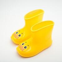儿童雨鞋男童女童水靴小孩防滑1-3岁幼儿水鞋加绒套保暖宝宝雨靴