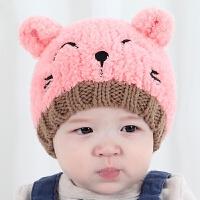 婴儿帽子秋冬季0-3-6-12个月男宝宝毛线帽女童新生儿胎帽冬天1岁yly 均码