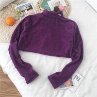 半高领打底衫长袖T恤女秋冬韩版学生百搭加绒加厚很仙的洋气上衣