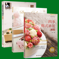四季韩式裱花蛋糕+彩绘蛋糕卷+慕斯蛋糕基础课 王森蛋糕裱花大全技巧 蛋糕裱花蛋糕制作基础教程烘焙书