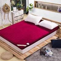 昭辰家纺  卡通床垫冬季保暖 羊羔绒床垫加厚床垫床褥子 法莱绒榻榻米床垫 学生床垫被 单人双人床褥可折叠
