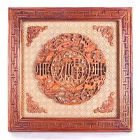 家居客厅玄关装饰品挂饰桃木挂件福禄寿福字木雕工艺品