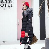 大码加厚两面穿羽绒女士中长款棉衣时尚棉袄外套冬季新款 黑色 双面穿