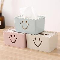 纸抽盒 简约客厅家用纸巾盒茶几桌面抽纸盒餐巾纸收纳盒创意镂空纸抽盒