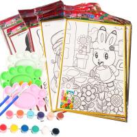 特大号儿童涂鸦画水彩画颜料DIY手工涂色板幼儿园水粉画彩绘画