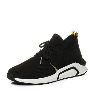 Teenmix/天美意2018春专柜同款织物/牛皮系带鞋男休闲鞋2FS01AM8