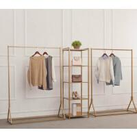 铁艺服装架展示架落地式陈列架女装店衣架货架创意金色挂衣架