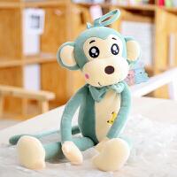 可爱萌眼吊猴公仔小猴子毛绒玩具创意布娃娃猴子玩偶朋友生日礼物