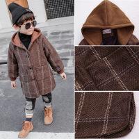 童装男童外套秋装2018新款洋气宝宝呢子大衣加绒儿童毛呢加厚冬装