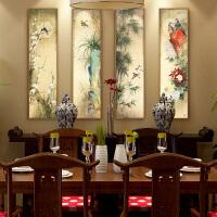 印花中国风景梅兰竹菊十字绣客厅线绣满绣玄关画十字绣