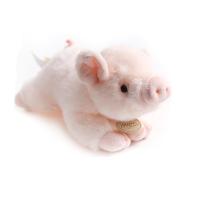 粉色趴趴猪公仔玩偶 韩国仿真小猪毛绒玩具幸运猪 小猪