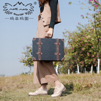 玛菲玛图春季单鞋女中跟19新款女鞋复古英伦鞋粗跟小皮鞋女真皮厚底设计师鞋女5752-7W