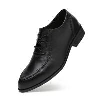 结婚皮鞋男新郎韩版系带英伦休闲2018新款尖头商务正装鞋增高6cm