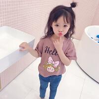 女童T恤春夏新款儿童卡通小女孩打底短袖T恤童装可爱上衣