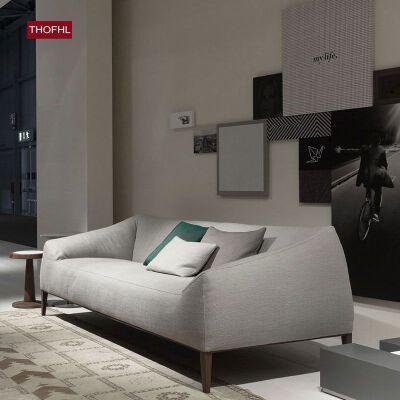 【限时直降】幸阁 亲肤舒适北欧沙发设计师款W1837 组合沙发转角沙发牛皮沙发羽绒沙发乳胶沙发支付礼品卡 送靠枕 亲肤透气可拆洗