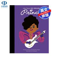 英文原版 小男孩,大梦想:歌手普林斯 名人传记 Prince Little People, BIG DREAMS 精装