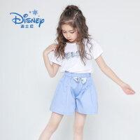 【3件2折后:49.9元】迪士尼冰雪奇缘童装女童夏装2020春夏新品时尚女童裙裤短裤