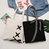 韩版帆布包女文艺单肩包简约森系购物包袋百搭手提包原宿学生书包