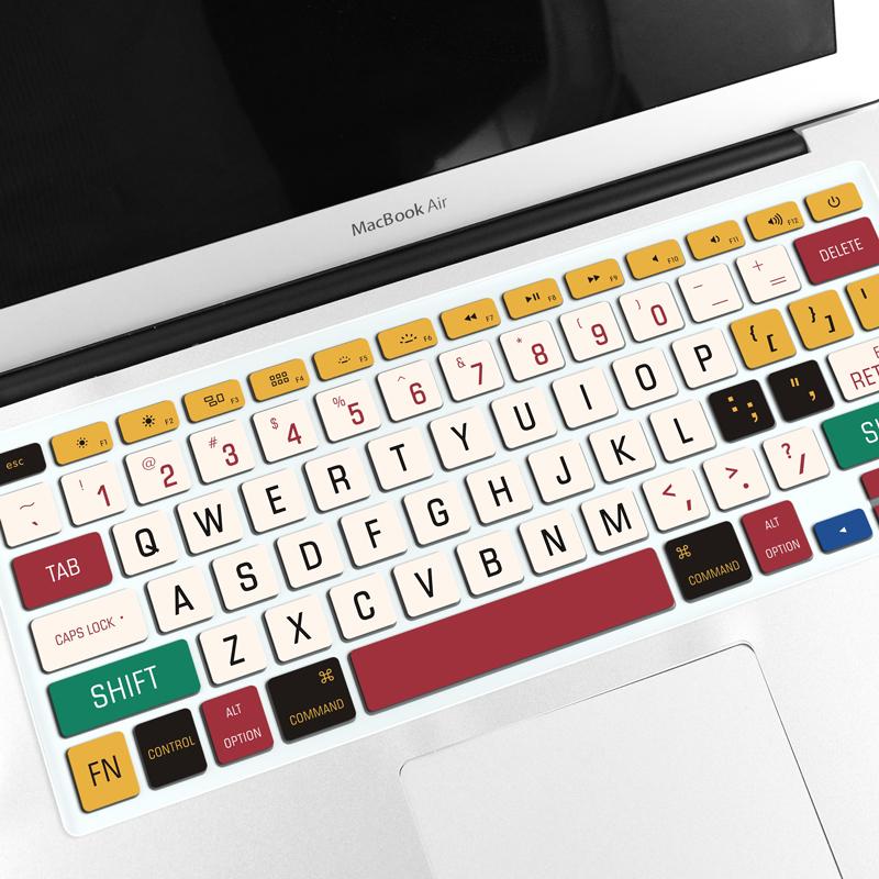 苹果笔记本键盘膜MacBook air13.3电脑pro13创意15.4寸12可爱mac15保护贴纸