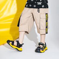 【2件3折价:69.3元】大黄蜂童装 男童五分裤儿童夏季裤子2020新款小男孩校园洋气短裤