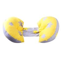 孕妇枕头护腰侧睡卧枕U型枕多功能托腹睡觉用品抱枕秋冬 3D分区释压 慢回弹记忆芯枕套 粉紫拼色