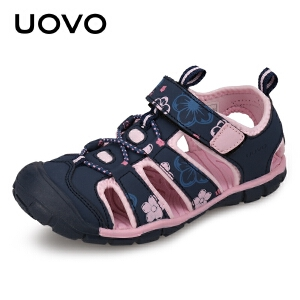 UOVO女童凉鞋2018新款儿童凉鞋女中小童包头宝宝沙滩鞋韩版夏季潮 卡梅尔