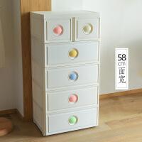 新品秒杀抽屉式收纳柜5层塑料婴儿宝宝衣柜儿童收纳柜子多层储物柜置物柜