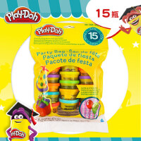 孩之宝培乐多彩泥多彩派对包儿童手工玩具15罐套装粘土无毒橡皮泥