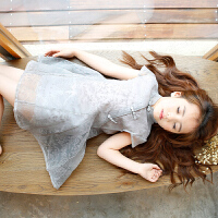 童装女童旗袍连衣裙新款夏款儿童大童夏装公主裙小女孩纱裙子