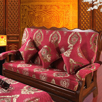 木沙发垫带靠背三人座垫加厚海绵冬季中式沙发坐垫/
