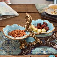 欧式创意水果盘 复古家居装饰品摆件 树脂果盘干果瓜子分格托盘