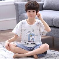 夏季儿童家居服宝宝小男孩可爱卡通夏天睡衣套装