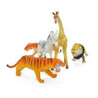 儿童动物玩具动物世界玩具小老虎玩具套装森林仿真动物模型