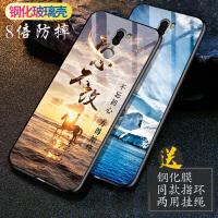 小米5SPlus手机壳 小米5s plus保护套 小米5splus钢化玻璃防摔硅胶软壳男女个性镜面彩绘保护壳