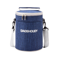 饭袋便当包保温饭盒袋子手提圆形防水便当盒袋保温袋保温桶手提袋