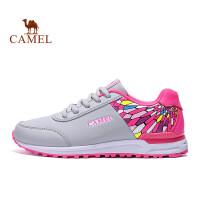 骆驼牌 运动跑鞋 女款防滑耐磨透气跑步鞋 时尚运动休闲运动鞋