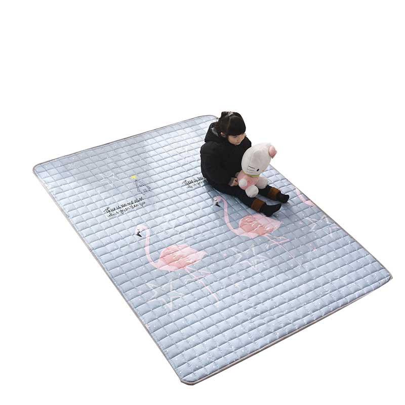 全棉儿童地垫 榻榻米可水洗折叠家用加厚床垫爬行垫游戏毯 抖音
