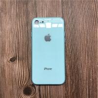 苹果XR手机壳纯色7秒变8玻璃壳xs max全包7p镜面X原机色彩黄蓝6s