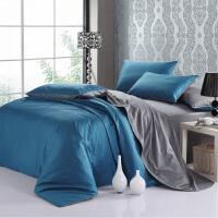 棉四件套棉色拼229x230x248x248被套素色床笠