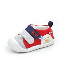 春秋季0-1岁男女宝宝单鞋6-12个月宝宝夏季软底鞋婴儿棉布鞋子学步鞋