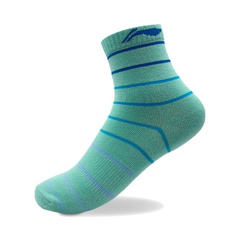 李宁短袜男女通用时尚浅口低跟袜中长袜舒适透气运动装备AWSM098袜子