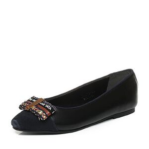 Tata/他她秋时尚蝴蝶结套脚方跟浅口女鞋U3018CQ6