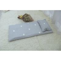 婴儿床垫被褥子幼儿园床褥儿童床棉垫子春夏手工棉花秋冬加厚 灰冠秋冬款 内胆+垫套