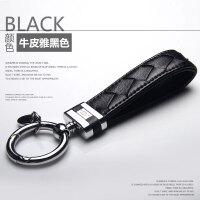 汽车钥匙扣男女士钥匙链挂件真皮定制刻字韩国创意可爱女款情侣bv