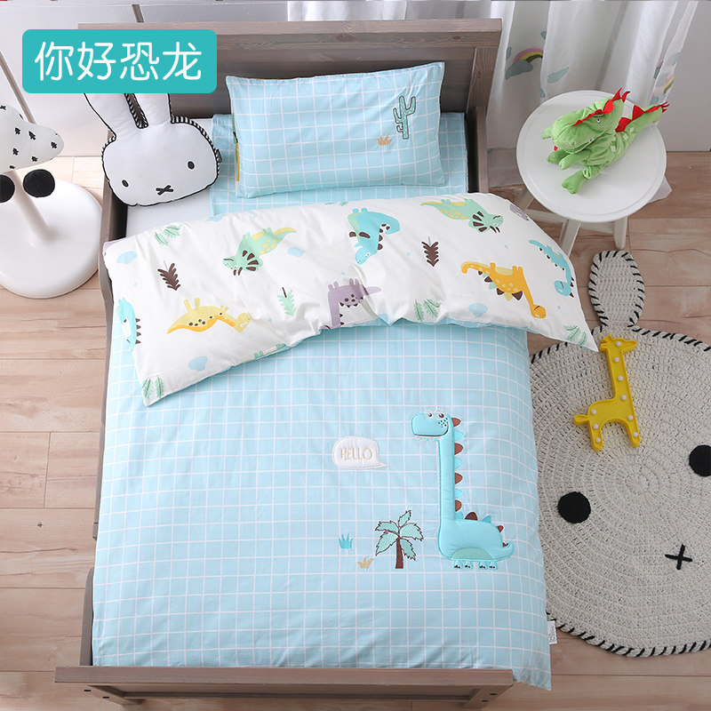 儿童被子秋冬婴儿被子纯棉冬季幼儿园被三件套宝宝棉被床上用品   双面可盖,一被两用
