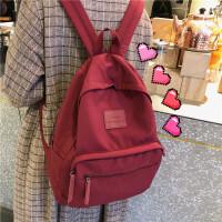 书包女大学生双肩包高中古着感少女校园简约旅行背包