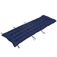 实木红木质沙发坐垫带靠背连体四季通用加厚海绵现代中式防滑垫子沙发盖布全棉布艺蕾丝沙发巾沙发套全包 藏青色 沙发垫