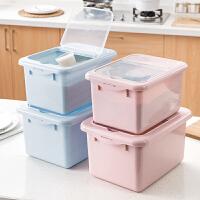 塑料储米盒厨房米面收纳箱10KG防潮储米箱放米缸装米的米桶面粉桶