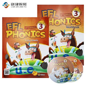 新版EFL phonics 3级学生套装  原版进口5-12岁幼少儿英语自然拼读phonics教材 初级启蒙英语入门字母发音规则口语语音强化0基础英语